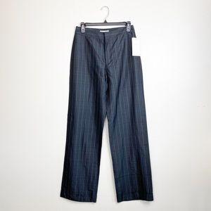 Zara Trousers Pinstripe High Rise Wide Leg